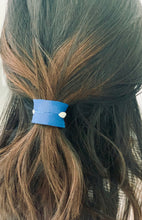 Leather Hair Cuff Blue