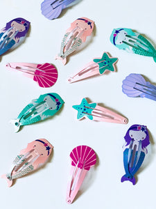 Mermaid Clips Purple