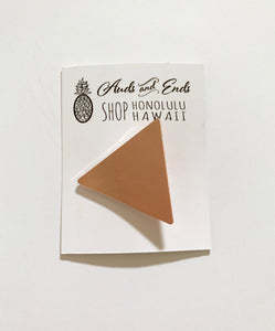 Geo Clips Triangle Rose Gold