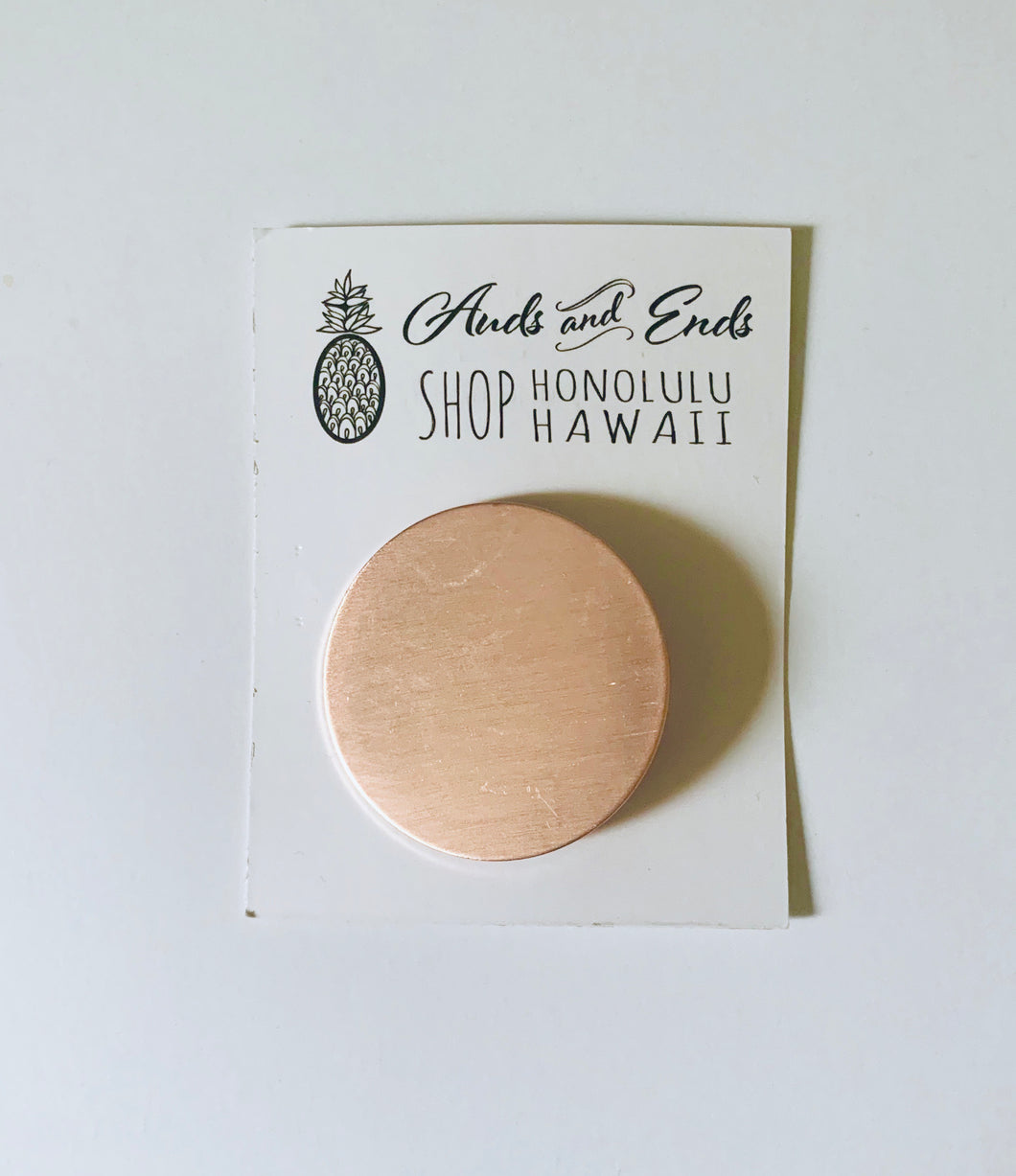 Geo Clips Circle Rose Gold