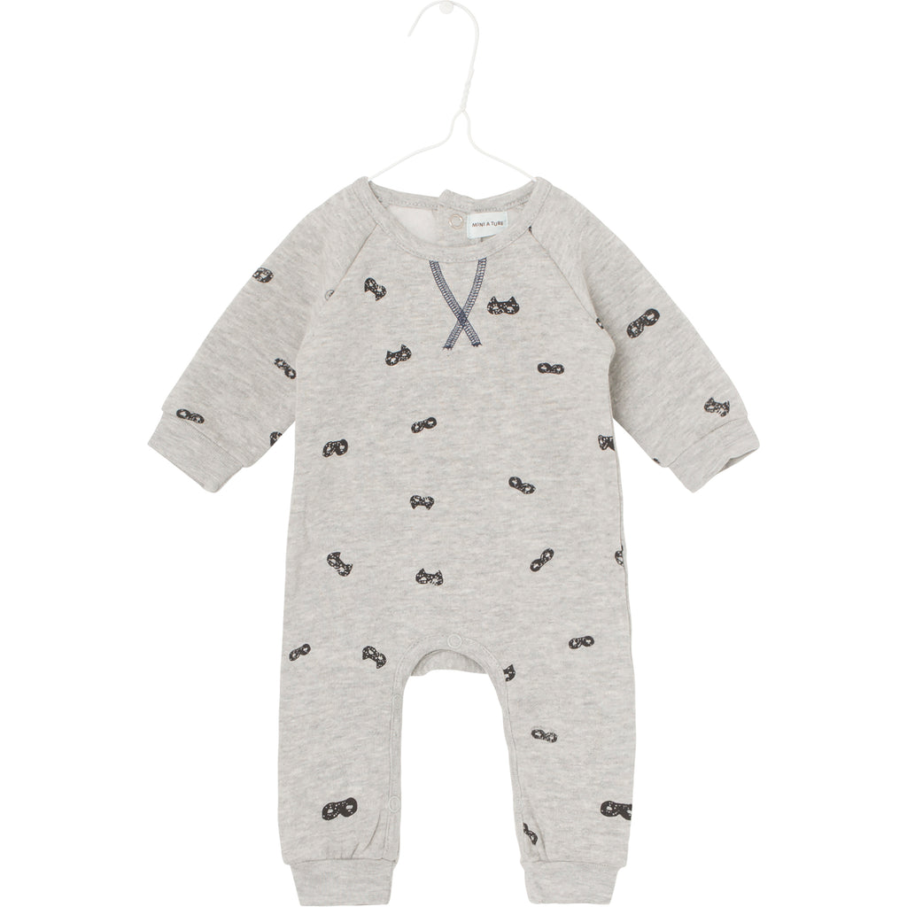 Benoit Romper - Light Grey Melange
