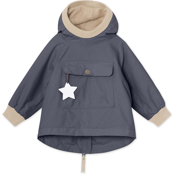 Baby Vito Fleece Anorak - Ombre Blue