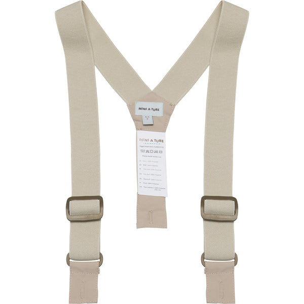 Vigge Suspenders - Doeskind Sand