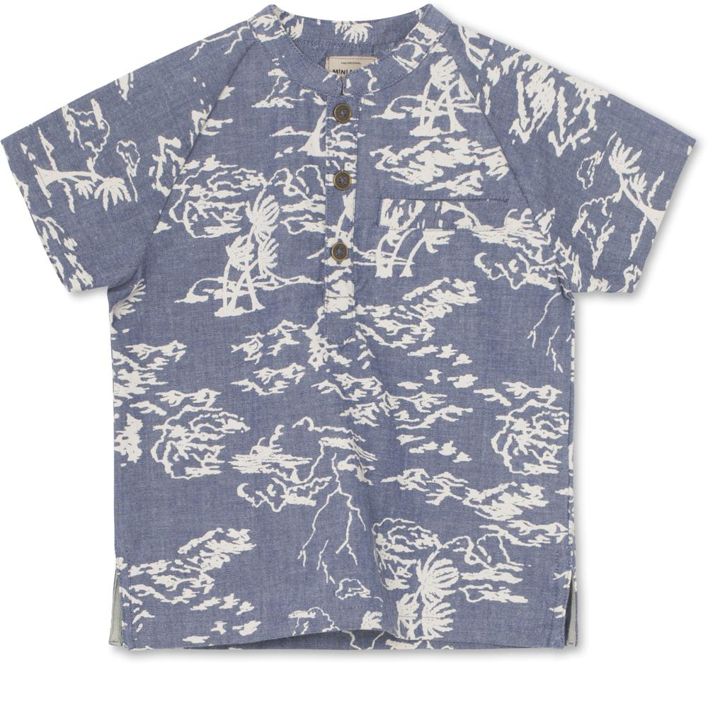 Bjørki Short-sleeve Shirt - Deep Peacock Blue