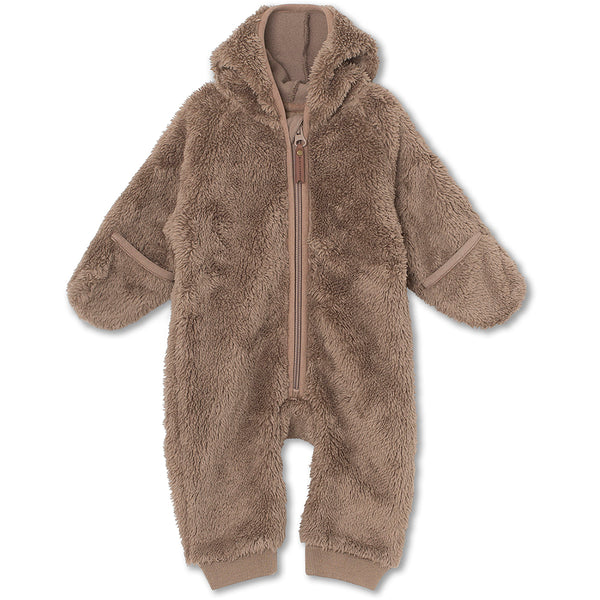 Adel fleece romper - Taupe Grey