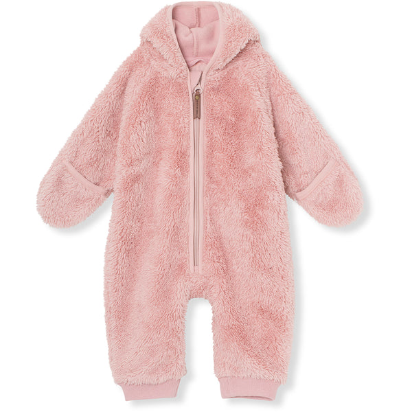 Adel fleece romper - Pale Mauve
