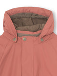 Wally fur winter jacket - Withered Rose