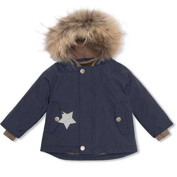 Wally fur winter jacket - Blue Nights