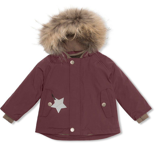 Wally fur winter jacket - Catawba Grape
