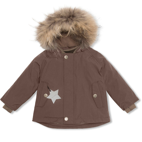 Wally fur winter jacket - Dark Choco