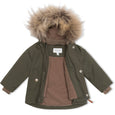 Wally fur winter jacket - Forest Night