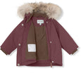 Wang fur winter jacket - Catawba Grape