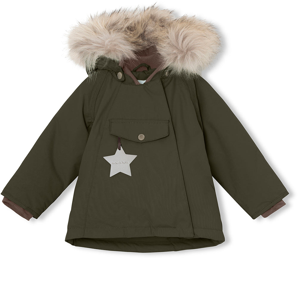 Wang fur winter jacket - Forest Night