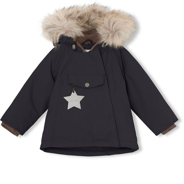 Wang fur winter jacket - Tap Shoe Black