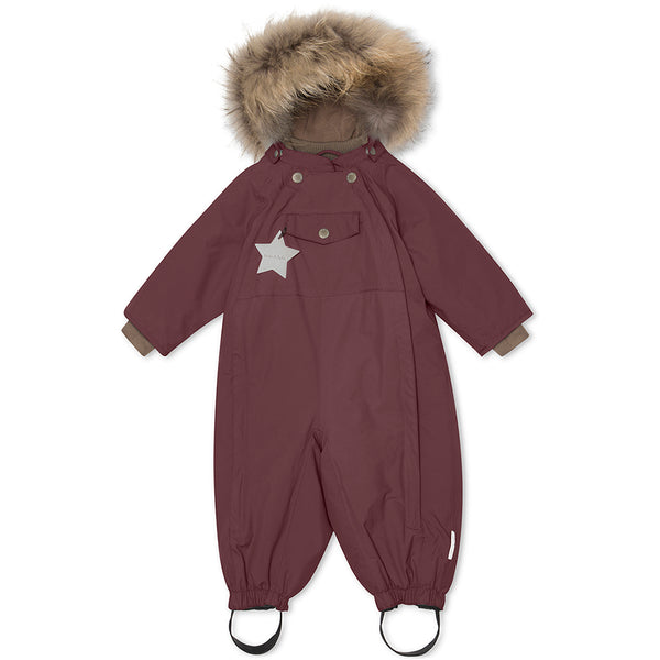 Wisti snowsuit with fur - Catawba Grape