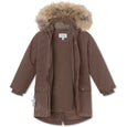 Vibse winter jacket with fur - Dark Choco