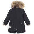 Vibse winter jacket with fur - Tap Shoe Black