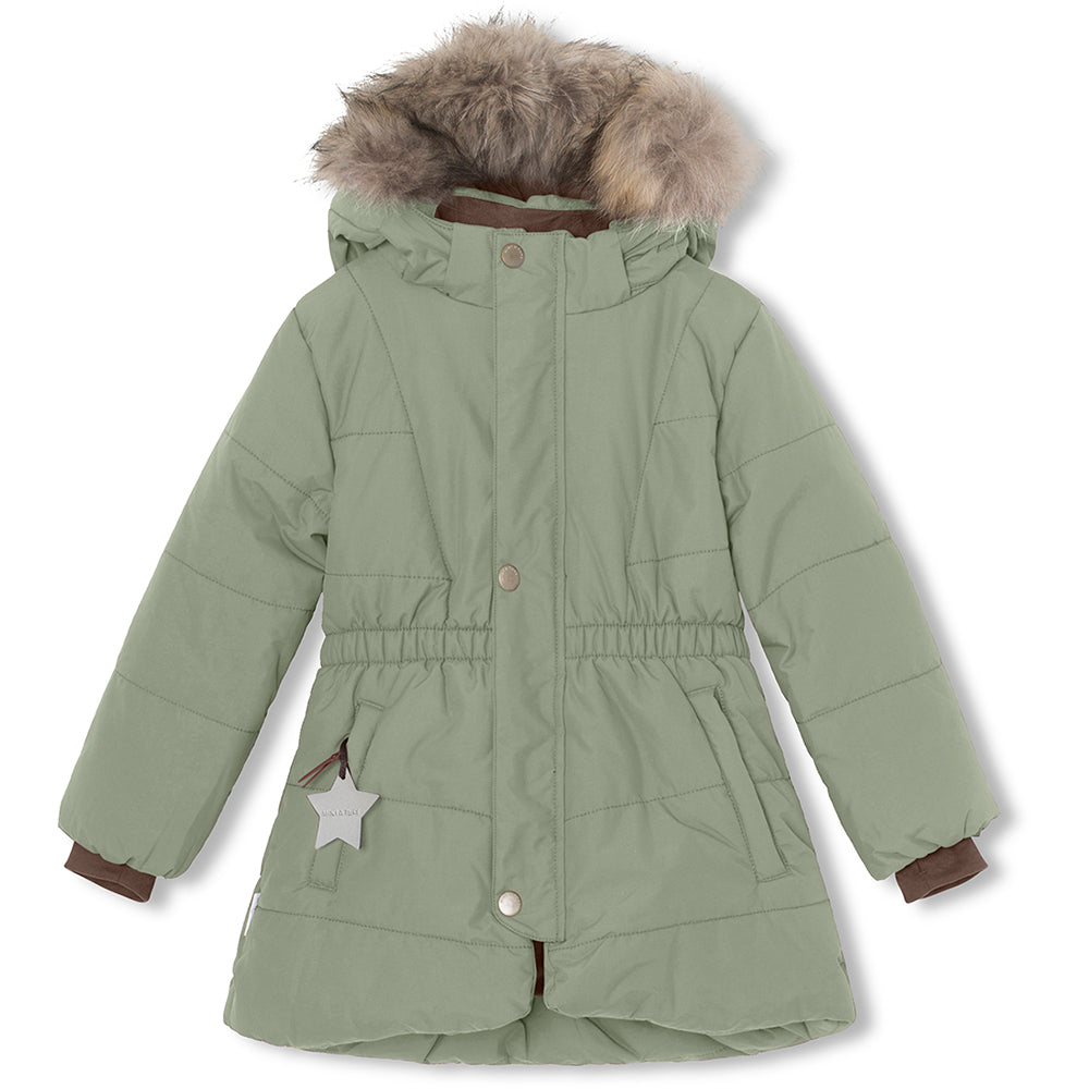 Witta winter jacket with fur - Sea Spray