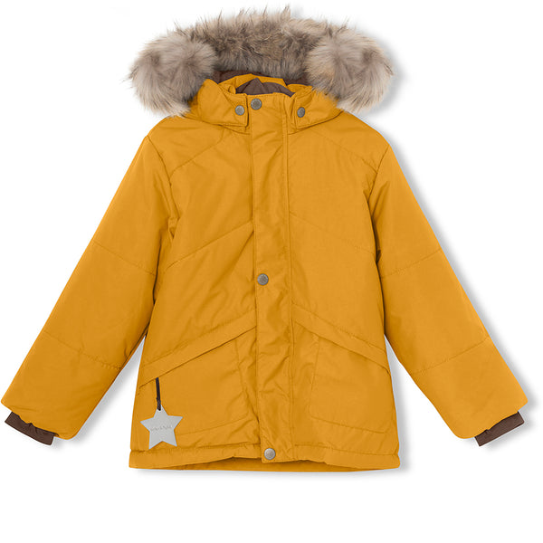 Weli winter jacket with fur - Buckthorn Brown