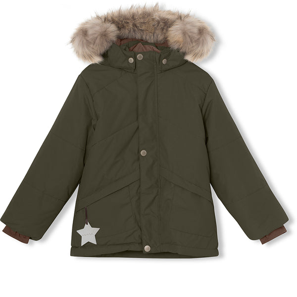 Weli winter jacket with fur - Forest Night