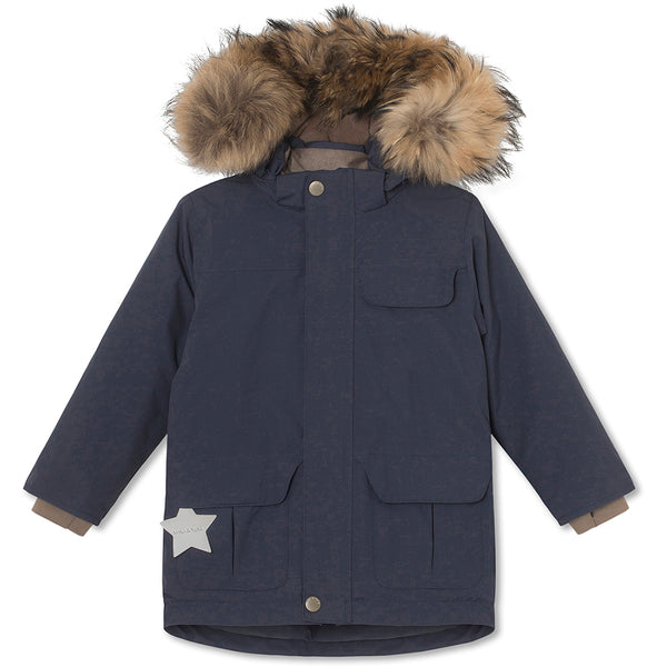 Walder winter jacket with fur - Blue Nights