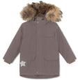 Walder winter jacket with fur - Dark Shadow
