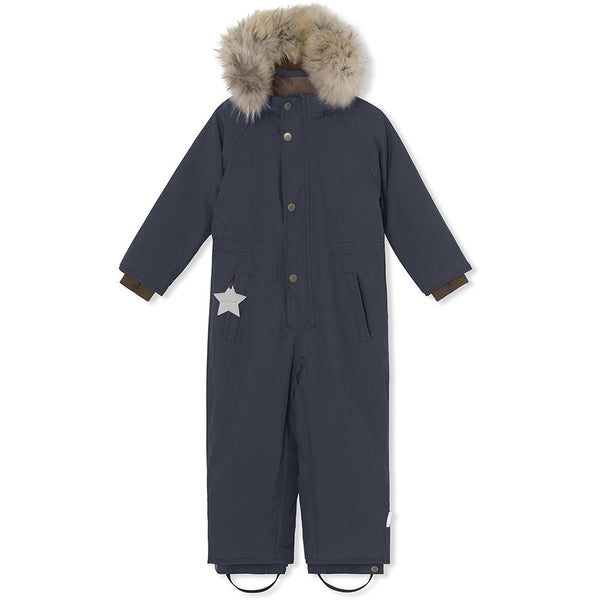 Wanni snowsuit with fur - Blue Nights