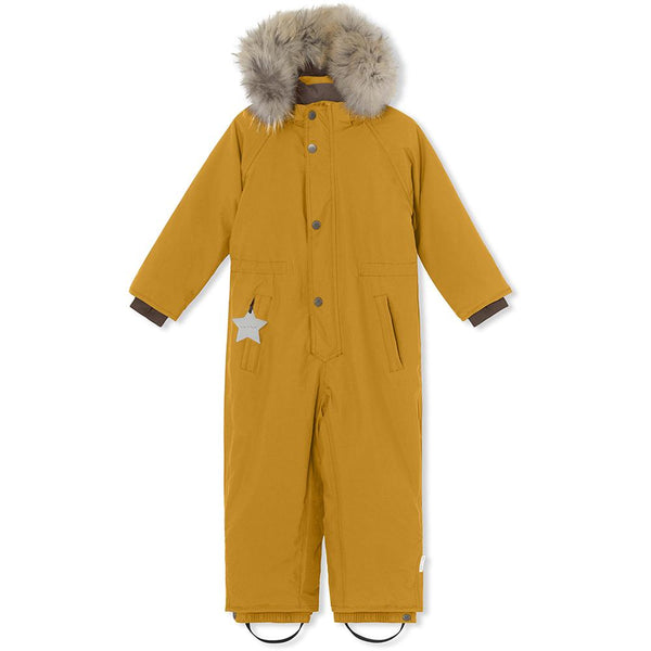 Wanni snowsuit with fur - Buckthorn Brown