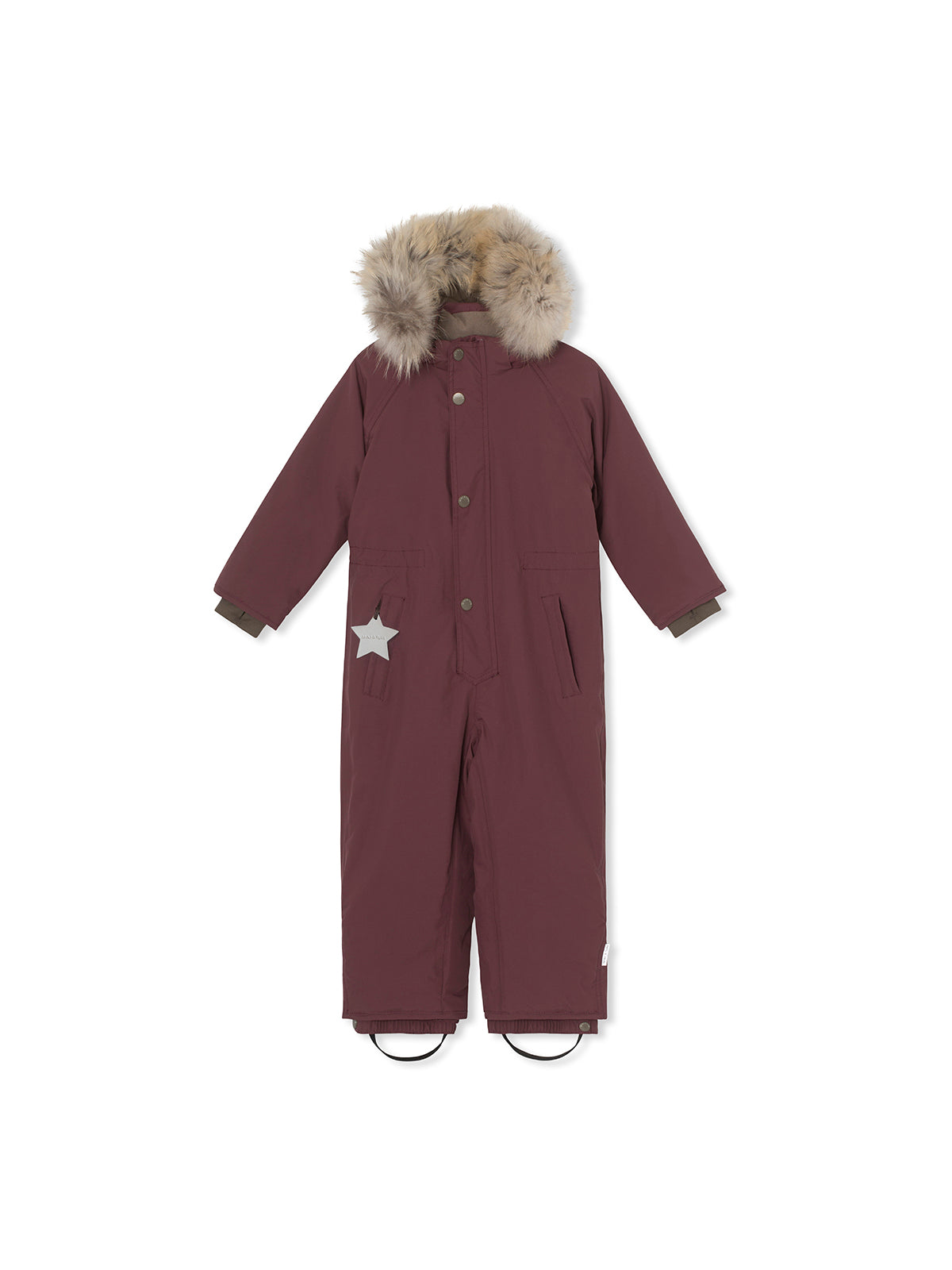 Wanni snowsuit with fur - Catawba Grape