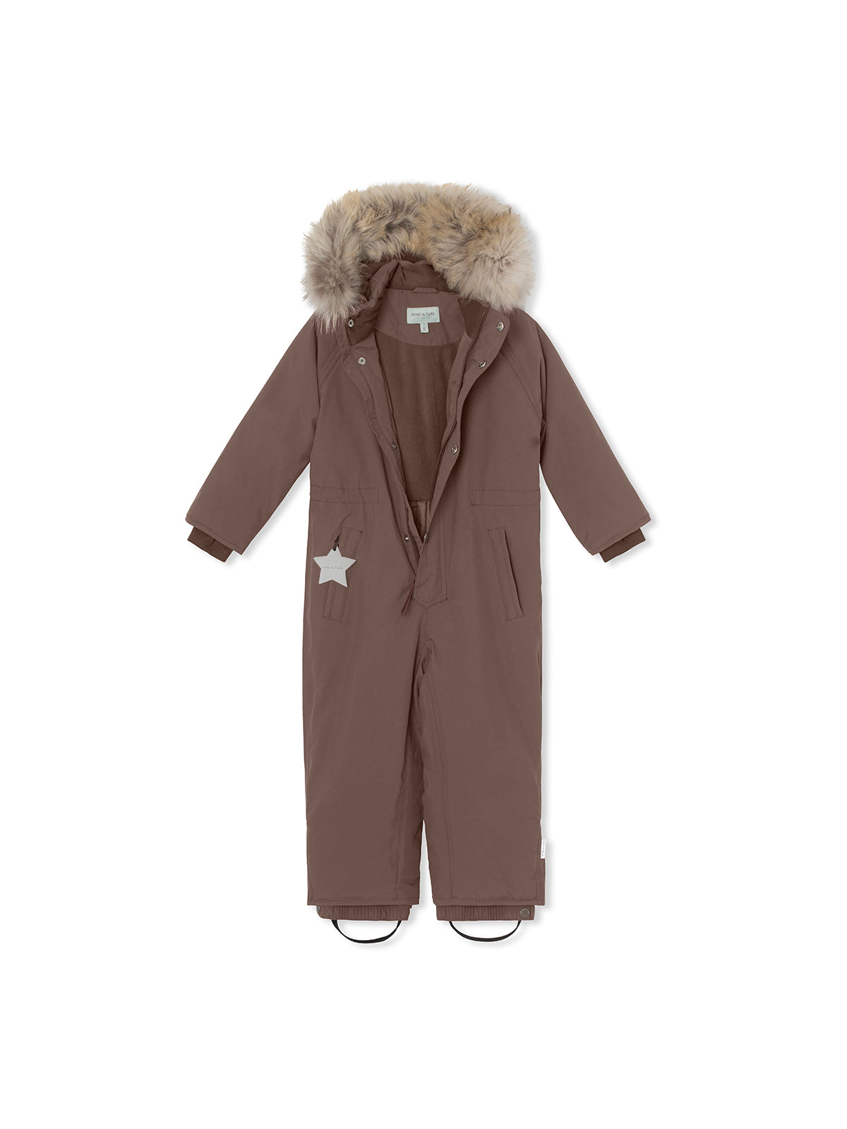Wanni snowsuit with fur - Dark Choco
