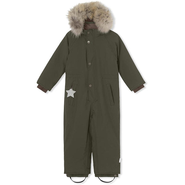 Wanni snowsuit with fur - Forest Night