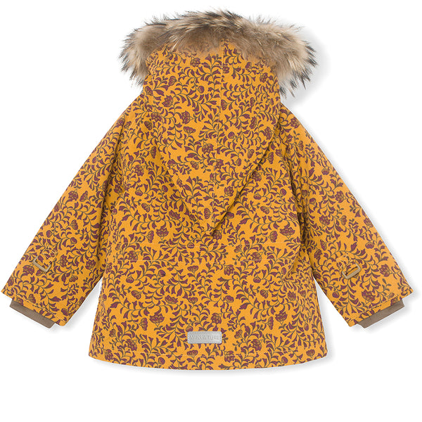 Wang winter jacket with fur - Buckthorn Brown
