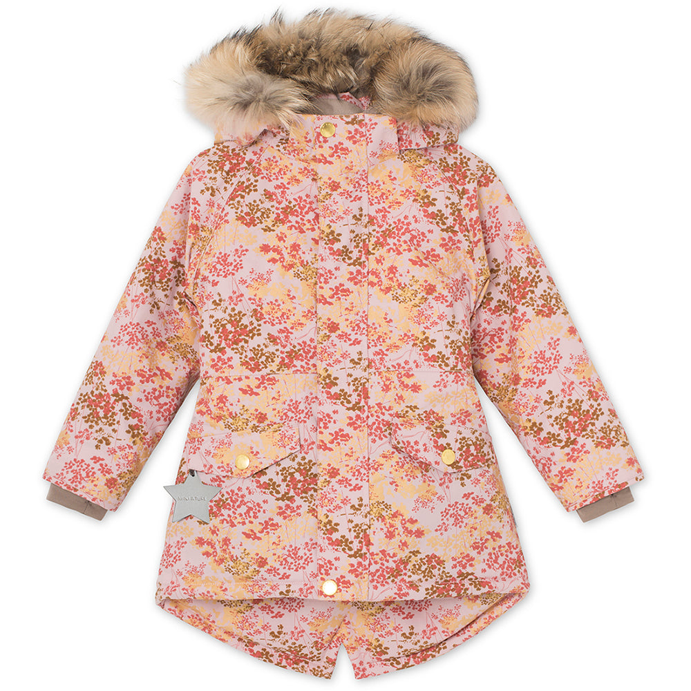 Vibse winter jacket with fur - Pale Mauve
