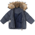 Woody downjacket with fur - Ombre Blue