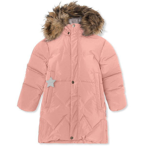Isabelle downjacket with fur - Cameo Rose Brown