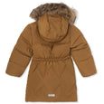 Isabelle downjacket with fur - Rubber Brown