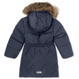 Isabelle Down Fur Jacket - Ombre Blue