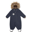 Wisti snowsuit with fur - Blue Nights