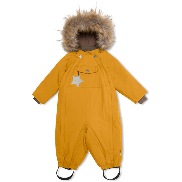 Wisti snowsuit with fur - Buckthorn Brown