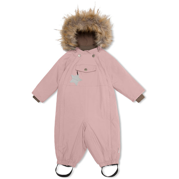 Wisti snowsuit with fur - Pale Mauve
