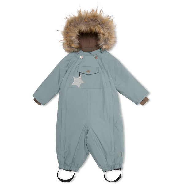 Wisti snowsuit with fur - Trooper Blue
