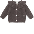 Diann Cardigan wool - Rabbit Plum