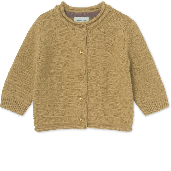 Adelina Cardigan in merinowool - Sweet Curry