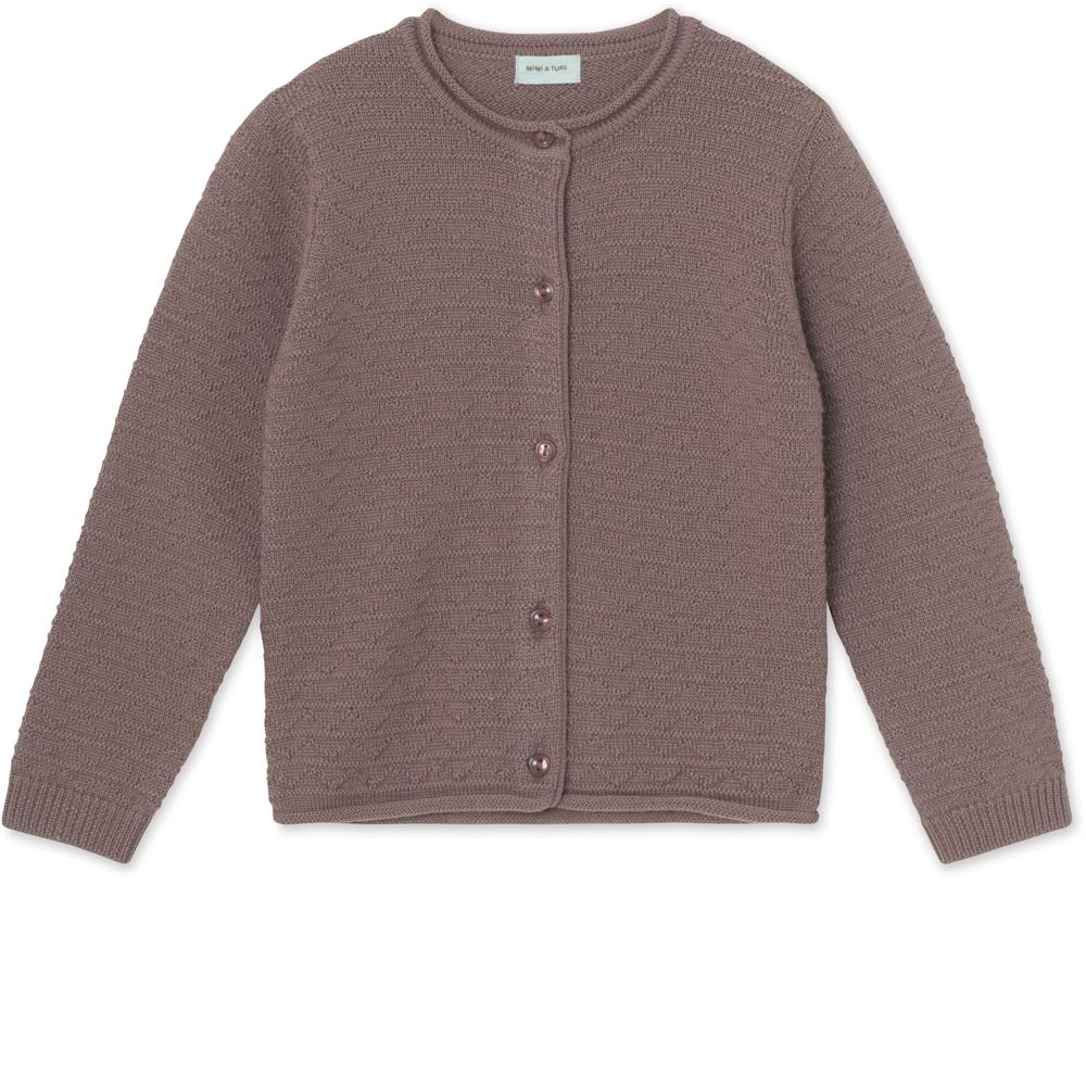 Adelina Cardigan in merinowool - Light Plum