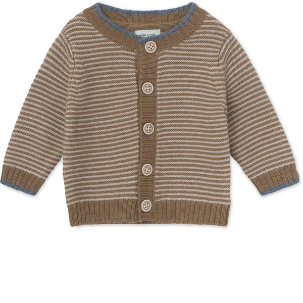 Ursul Cardigan Merino wool - Otter Brown