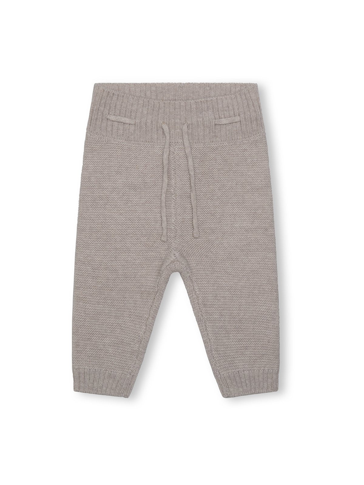 Leslie merinowool pants - Light Brown Melange