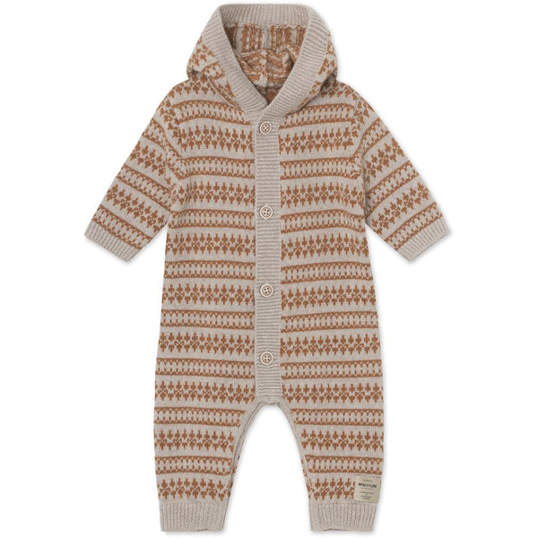 Alver Merinowool Romper - Light Brown Melange