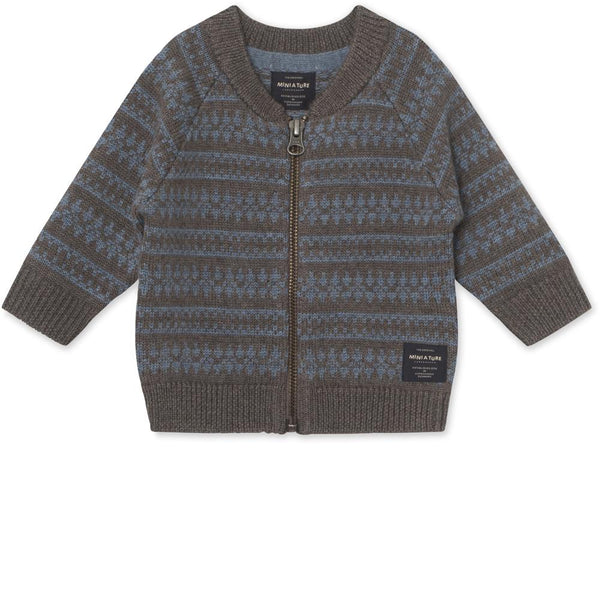 Maximus Cardigan Merino wool - Brown Melange
