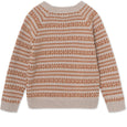 Timo merino wool knit - Light Brown Melange
