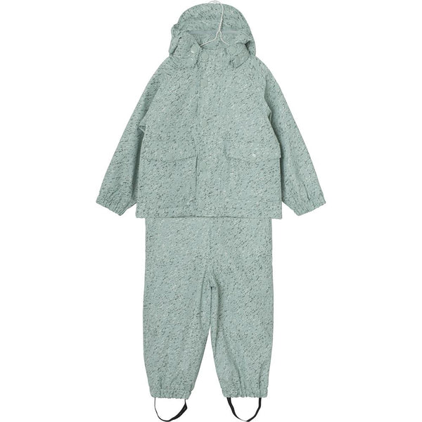 Julien Rubi Fleece Rainwear set - Mint blue